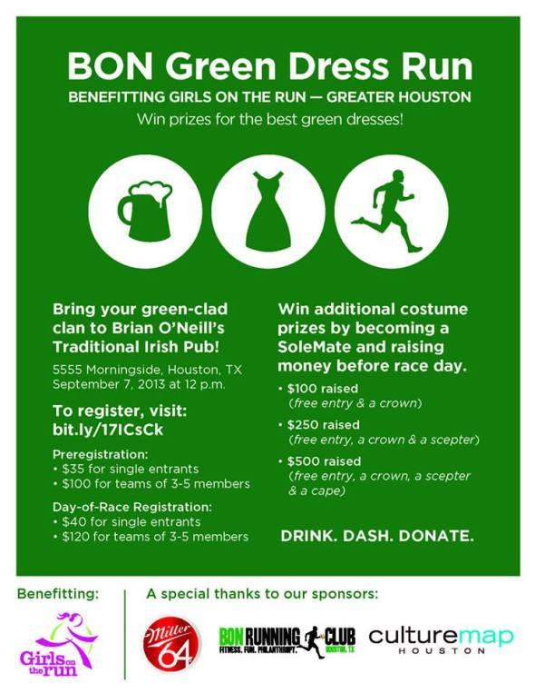 green dress run